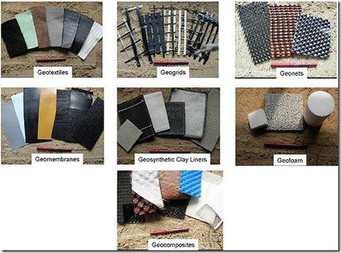 Geosintetik : Geotextile, Geomembrane, Gegrid, Geonet, GCL, Geopipe, Geocomposite, Geocell, Geofoam